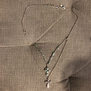 Lucky brand layered cross necklace